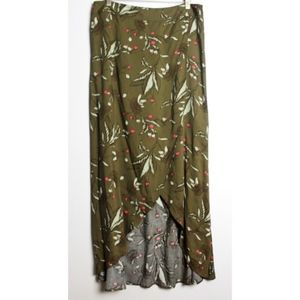 Express Faux Wrap Maxi Skirt